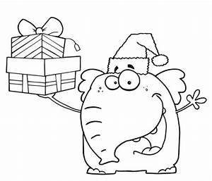 Kostenlose Malvorlage Weihnachten Weihnachts Elefant Zum