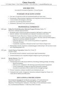 safety specialist resume resume associate environmental specialist susan ireland