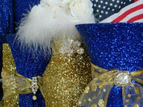 royal blue and gold wedding decorations wedding decorations gold wedding centerpieces by kpgdesigns