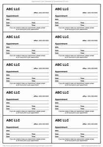Free next appt template calendar template 2016 for Appointment cards templates free
