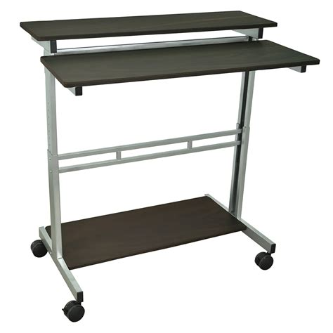 luxor stand up desk luxor standup 40 mobile laptop stand up desk with
