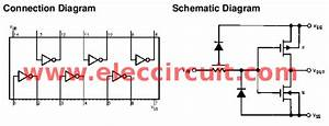 Cd4069 Inverter Gate Circuit  U2013 Electronic Projects Circuits