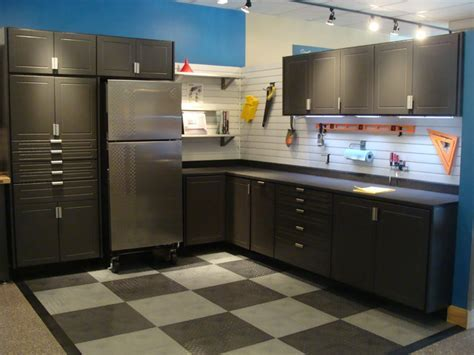 gladiator refrigerator Garage And Shed with cabinets epoxy