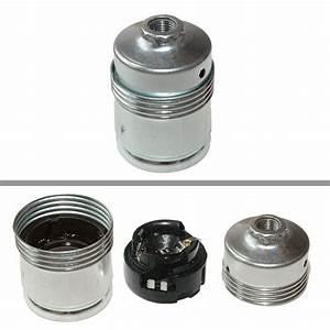 E27 Fassung Metall : e27 metall fassung glattmantel nippelgew m10x1 erdung chromfarben ~ Orissabook.com Haus und Dekorationen