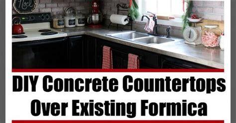 DIY Concrete Countertops Over Existing Formica   Diy