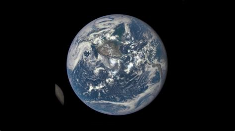 Earth The Far Side Moon Seen Dscovr