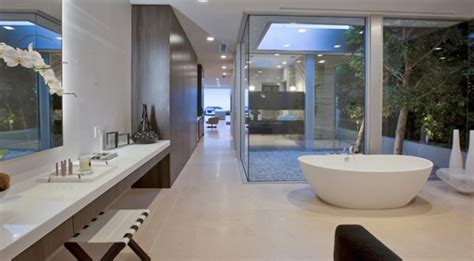 contemporary and bathroom interior design of beverly house by mcclean design los - Bathroom Design Los Angeles