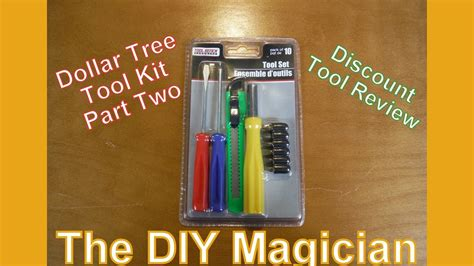 Dollar Tree Tool Kit Part Two Discount Tool Review The Diy