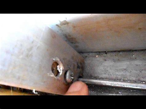 sliding glass door  stuck  fix youtube