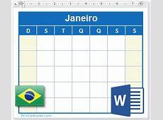 Calendário 2018 com Feriados Brasil como arquivo MS Word