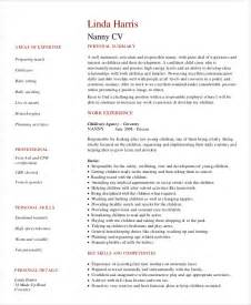 Exle Resumes For Nannies by Nanny Resume 8 Free Sle Exle Format Free Premium Templates