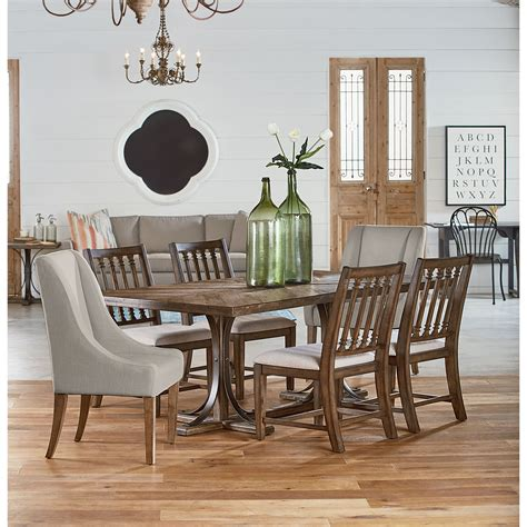 trestle table and chairs dining room furniture from magnolia home american