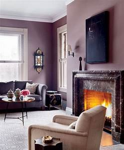 Awesome, Purple, Living, Room, Wall, Color, Ideas, 19710