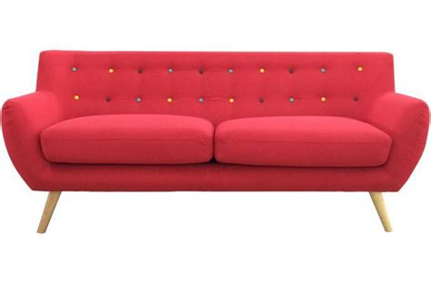 sofactory canapé canapé 3 places avec boutons multicolores design