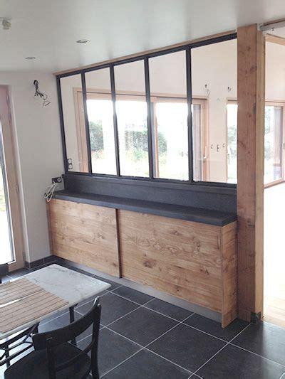 facade cuisine bois cuisine façade chêne à noeud et plan de travail en chêne