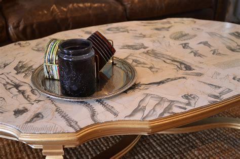 mr kate diy home art book decoupaged coffee table