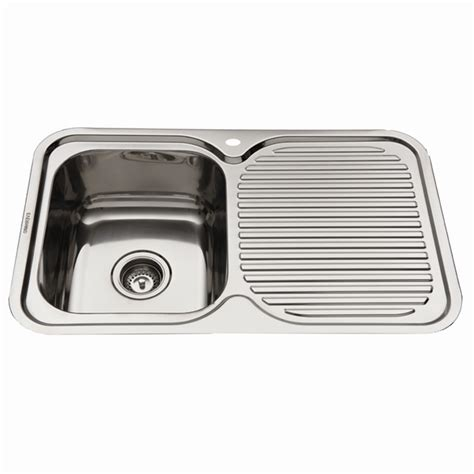 everhard 780mm nugleam lh single bowl stainless steel