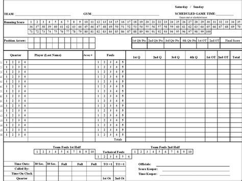 basketball scoresheet  kb  pages