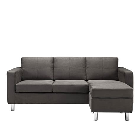 Livingroom Small Size Sectionals Sofa Leather Sectional