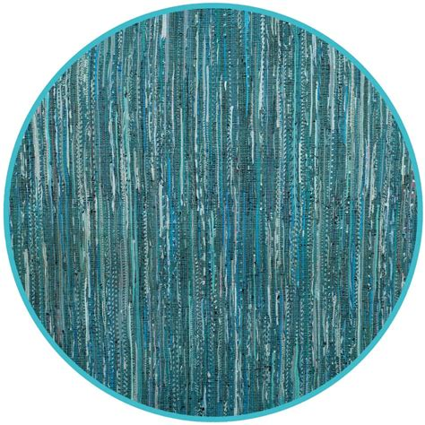 Turquoise Rag Rug by Safavieh Rag Rug Turquoise Multi 4 Ft X 4 Ft Area