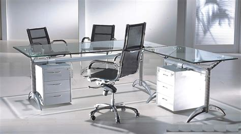 Glass Executive Office Desk Furniture
