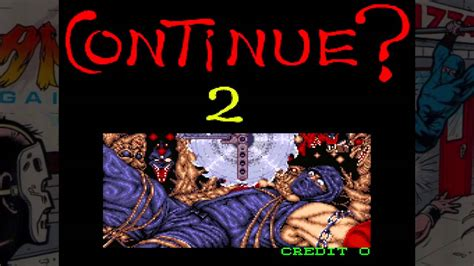 Ninja Gaiden Arcade Game Over Screen Hd Youtube
