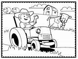 Coloring Farm Pages Farmer Machinery Agriculture Printable Tractor Sheets Animals Traktor Animal Boy Ausmalbilder Cartoon Fun Ploughing Boys sketch template