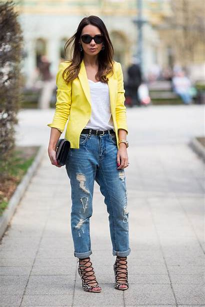 Yellow Spring Trendy Combinations Outfit Jeans Combination