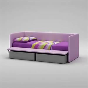 lit canape en imitation cuir couleur lila moretti With tapis enfant avec canapé cuir personnalisable
