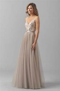 Watters blair 8355i bridesmaid dress sequined lace v neck for Sequined wedding dress