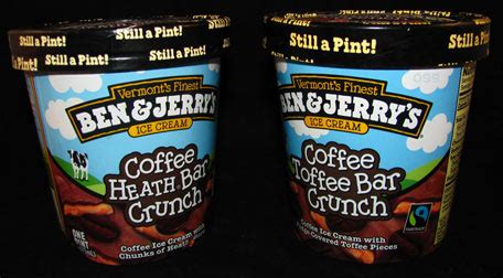 Where the two pints noticeably diverge is in the so if you can find graeter's toffee chocolate chip, there's frankly no reason to bother with ben & jerry's on this one. On Second Scoop: Ice Cream Reviews: Ben & Jerry's Coffee Toffee Bar Crunch vs. the old Coffee ...