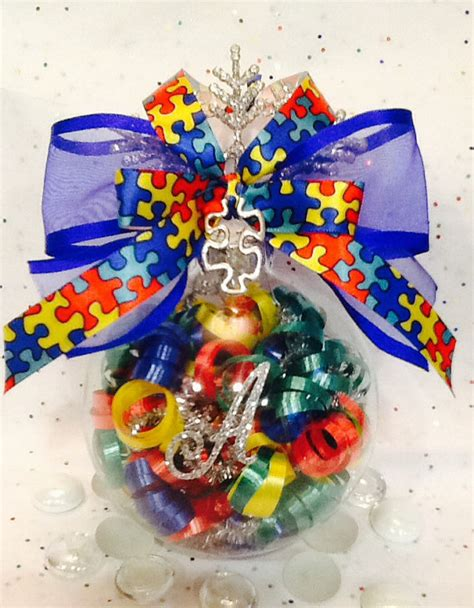 personalized autism glass ornament autism awareness
