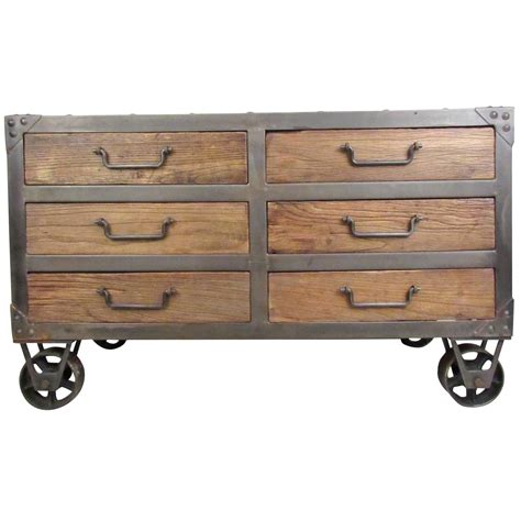 industrial style dresser industrial style six drawer dresser at 1stdibs