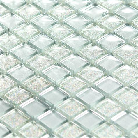 cuisine design de luxe mosaïque pâte de verre luxe silver argentée paillette indoor by