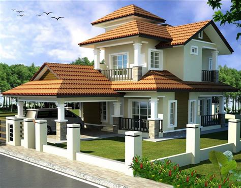 Double Storey Bungalow House With Plan Home Design Best