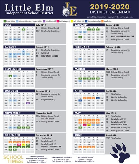 district calendar academic calendar