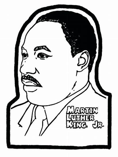 Luther Coloring Martin King Jr Pages Mlk