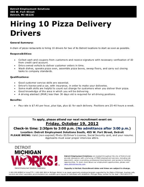 Pizza Driver Resume by Application Letter For A Driving
