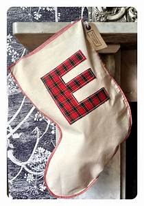 24 best christmas stockings images on pinterest With plaid christmas stockings with letters