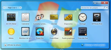 installer gadget m 233 t 233 o sur windows 7