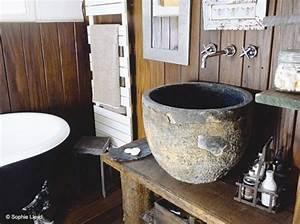 vasque pierre salle de bain vasque pinterest vasque With salle de bain design avec vasque pierre brute
