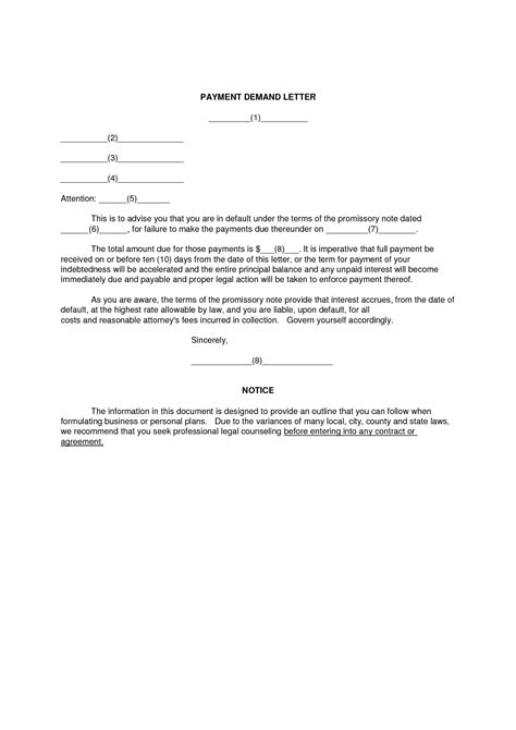 letter of demand sle demand letter for payment