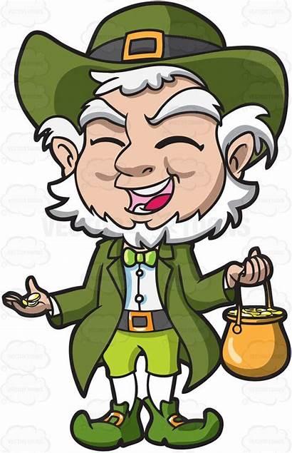 Leprechaun Pot Gold Clipart Cartoon Charming Vector