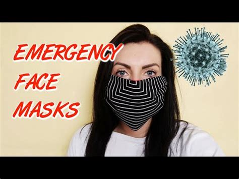 emergency face masks  easy quick  sew ideas youtube