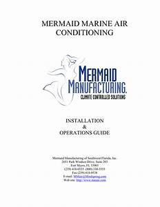 Mermaid Air Conditioner User U0026 39 S Manual