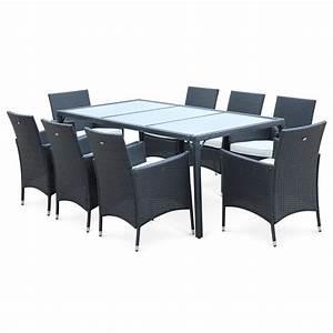 beautiful table de jardin en resine tressee ideas With maison rondin bois prix 19 tables