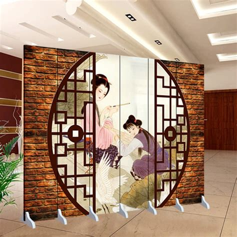 chinese folding screens living room partition double sided