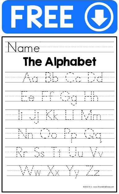 alphabet handwriting practice sheets  images