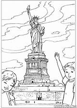 Liberty Statue Coloring Pages Colorkid Around sketch template