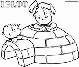 Igloo Coloring Pages Igloo2 sketch template